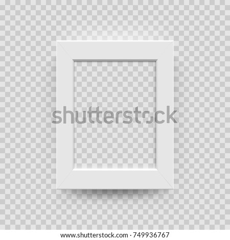 0730123ce5b Photo Picture Frame White Paper Plastic Stock Vector (Royalty Free ...