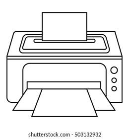 Photo printer icon. Outline illustration of photo printer vector icon for web