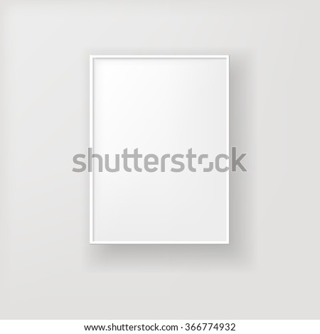 Photo Realistic Picture White Frame Design Stock Vector Royalty
