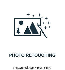 Photo Retouching icon. Simple element from design technology collection. Filled Photo Retouching icon for templates, infographics and more.