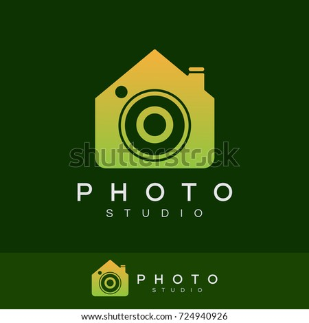 photo studio initial letter o logo design
