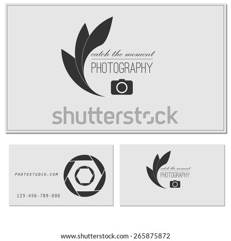 photo studio logo business card template stock vector royalty free