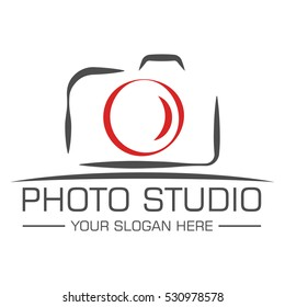 Photo studio logo design template