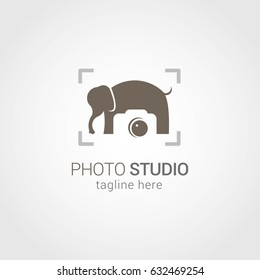 Photo Studio Logo Design Template. Vector Illustration