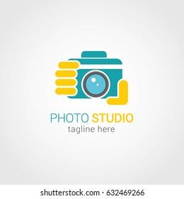 Photo Studio Logo Design Template. Vector Illustration
