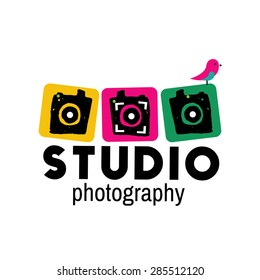 Photo studio vector logo illustration