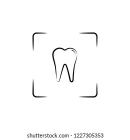photo, tooth icon. Element of dantist for mobile concept and web apps illustration. Hand drawn icon for website design and development, app development