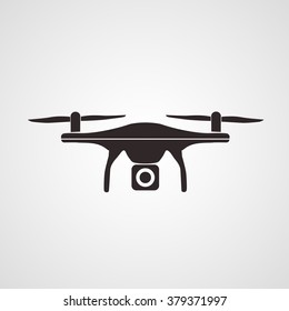 Photo and video drone icon (vector)