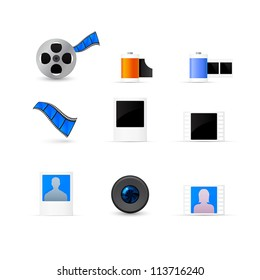 Photo and video icons set
