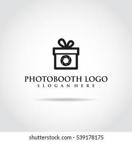 Photobooth logo template. gift idea concept, vector illustrator eps.10