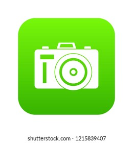 Photocamera icon digital green for any design isolated on white vector illustration