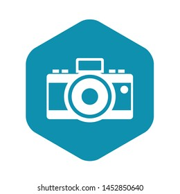 Photocamera icon. Simple illustration of photocamera vector icon for web