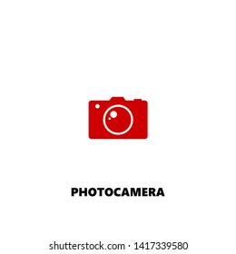 photocamera icon. photocamera vector design. sign design. red color