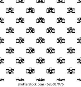 Photocamera pattern seamless. Simple illustration of photocamera pattern seamless vector for any design