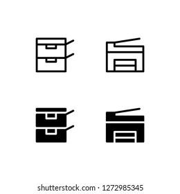 Photocopier Icon Logo Vector Symbol. Photocopy Icon