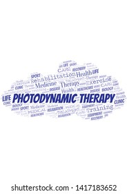 Photodynamic Therapy word cloud. Wordcloud made with text only.