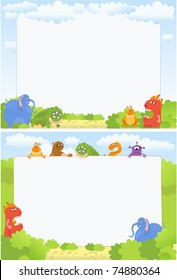 Photo-frames with cute monsters