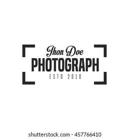 Photograph badge and logo vector illustration