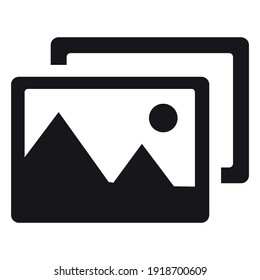 Photograph icon for graphic design projects