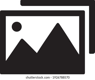 photograph icon, isolated on a white background. Vector Illustration.