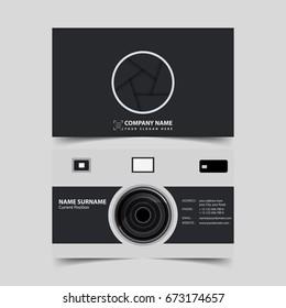 Photographer Business card design template.