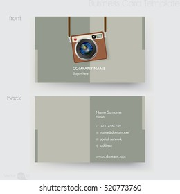 Photographer business card template stock vector 520761607 photographer business card template accmission Image collections