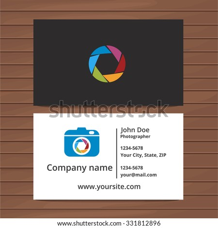 Photographer business card template two sided stock vector royalty photographer business card template two sided business card for professional photographer or visiting card design cheaphphosting Images