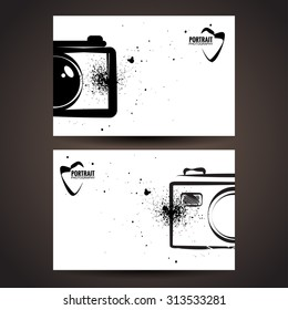 Photographer business card template.Photo labels.Photo studio logo.Vector illustration.