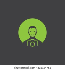 photographer cut identity template icon design element