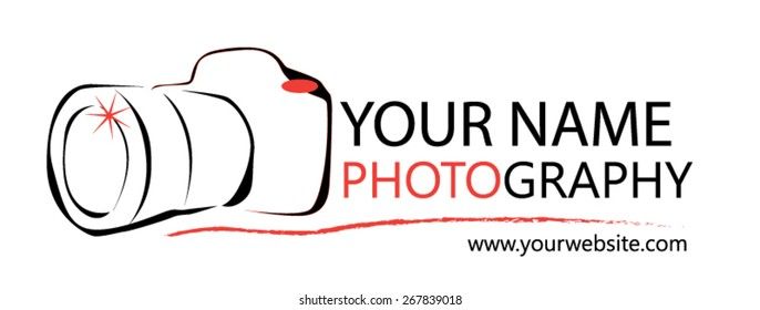 Photographer Logo for design or website.