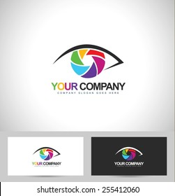 Photographer / Photography Logo Design. Eye Photography Concept with business card template.