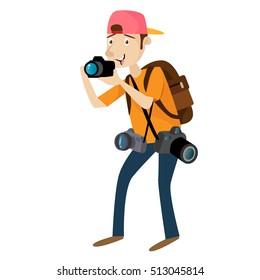 Photographer Professional Photography Job Vector