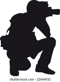 photographer silhouette | vector