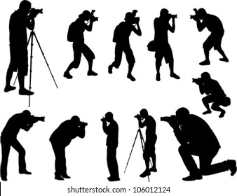 photographers silhouettes collection