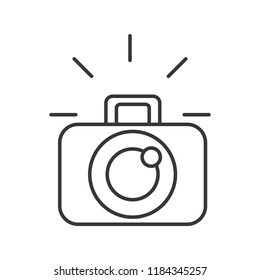 photographic camera device lens flash graphic