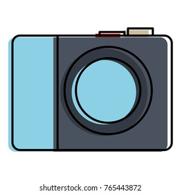 photographic camera isolated icon