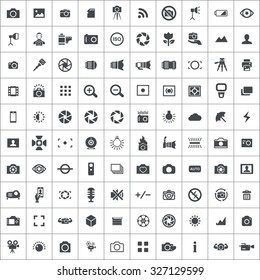 photography 100 icons universal set for web and mobile