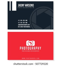 Photography, camera business card design template