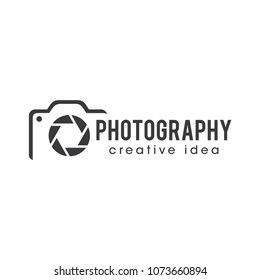 photography  camera logo icon vector template
