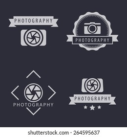 photography, camera, photographer logo, emblems, signs, vector illustration, eps10, easy to edit