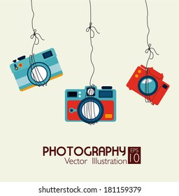 photography  design over beige background vector illustration
