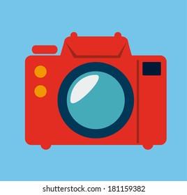 photography  design over blue background vector illustration