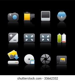 Photography Equipment Icon Set for multiple application in Adobe Illustrator EPS 8.