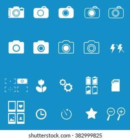 Photography icon set . Vector illustration