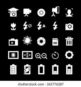 Photography Icon set - White