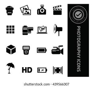 Photography icon set,vector