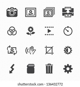 Photography icons and Camera Function Icons with White Background