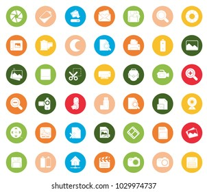 Photography icons set