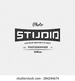 Photography logo badges logos and labels for any use, on a white background