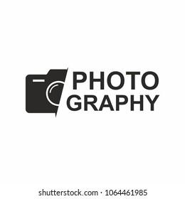 Photography logo camera icon. Vector